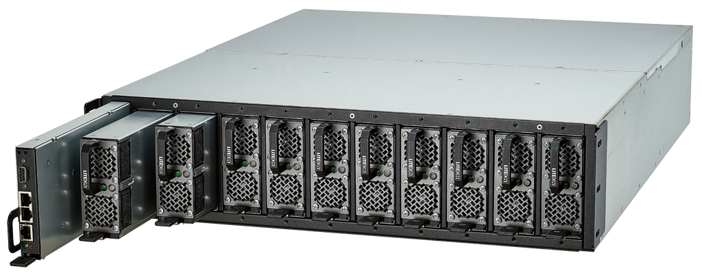 12.5kW 5+5 DC Power Shelf by Lite-On Cloud Infrastructure Power Solutions  - DC UPS